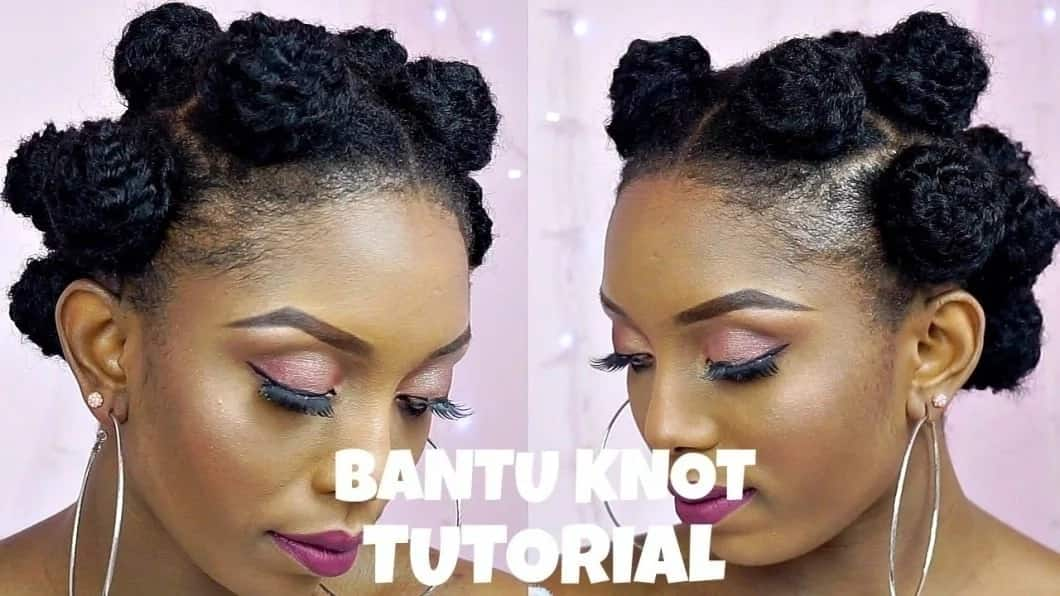 How to make bantu knots How to do bantu knots Bantu knots short hair Bantu knots on relaxed hair How to make bantu knots last Bantu knots on natural African hair