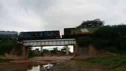 Raia washangazwa na ajali ya treni mbili za mizigo Makueni