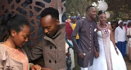 Gospel star Danny Gift walks down the aisle with lover and TUKO.co.ke has all the eye-catching photos