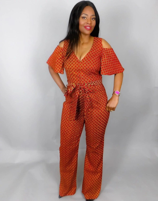 2a6e0f89a3bc Fashionable African print jumpsuit designs ▷ Tuko.co.ke