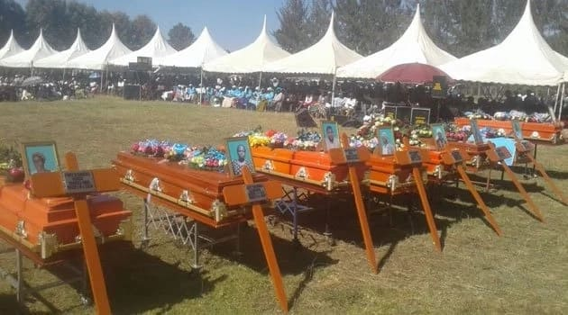 Residents of Nyandarua bury 9 members upon returning from another funeral