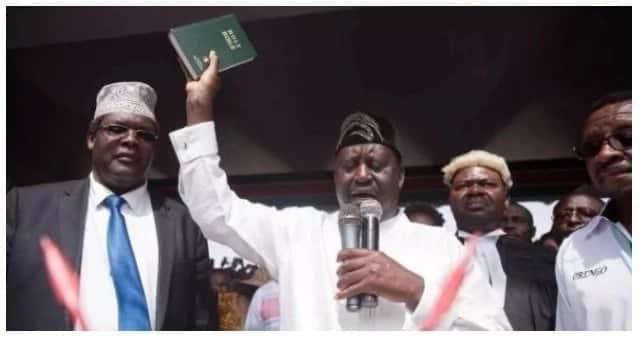 Raila's conversational swearing-in was a luo affair - Mutahi Ngunyi