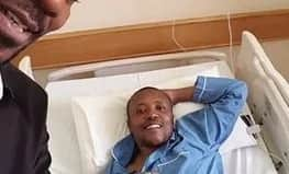 Maina Kageni photographed in hospital, has a word for his Classic 105 fans