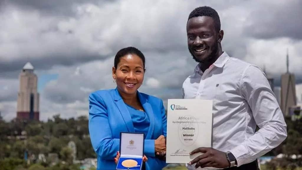 Uganda's Brian Gitta, 24, wins Africa prize for bloodless malaria test