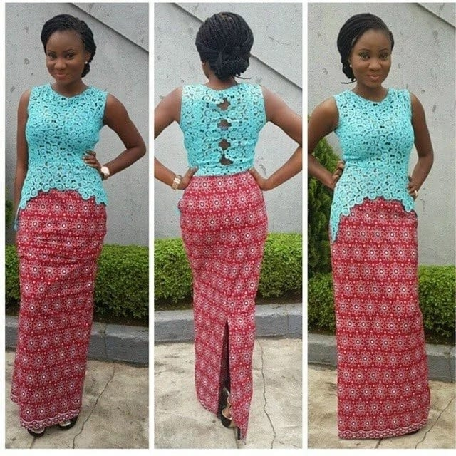Latest Ankara lace styles