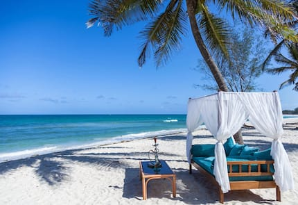 Beach hotels in Mombasa town in Kenya