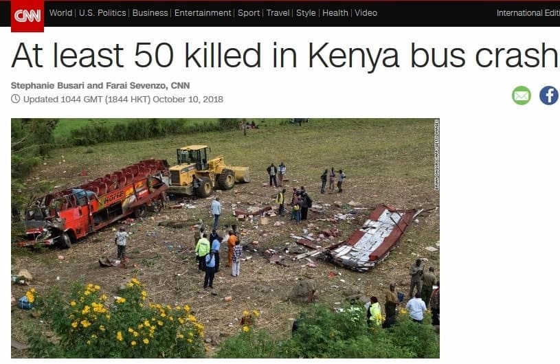 How international media reported on Wednesday's Londiani accident