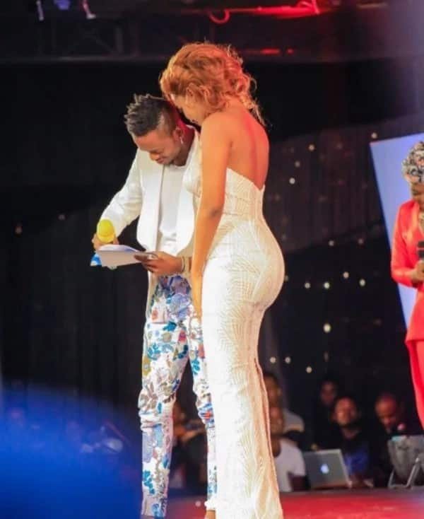 Diamond and Hamisa leave tongues wagging as they cozy up in front of Wema Sepetu