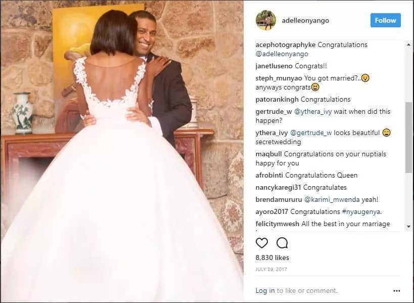 "Adelle Onyango wedding. A beautiful ""celebration of love with family"""