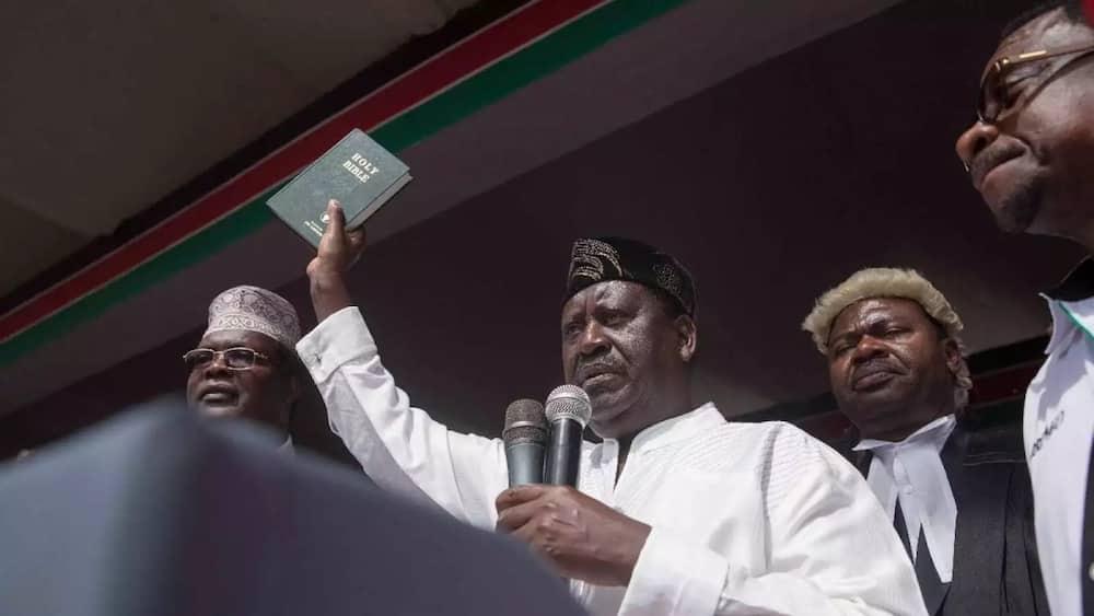 Raila Swearing In as as 'People's President'
