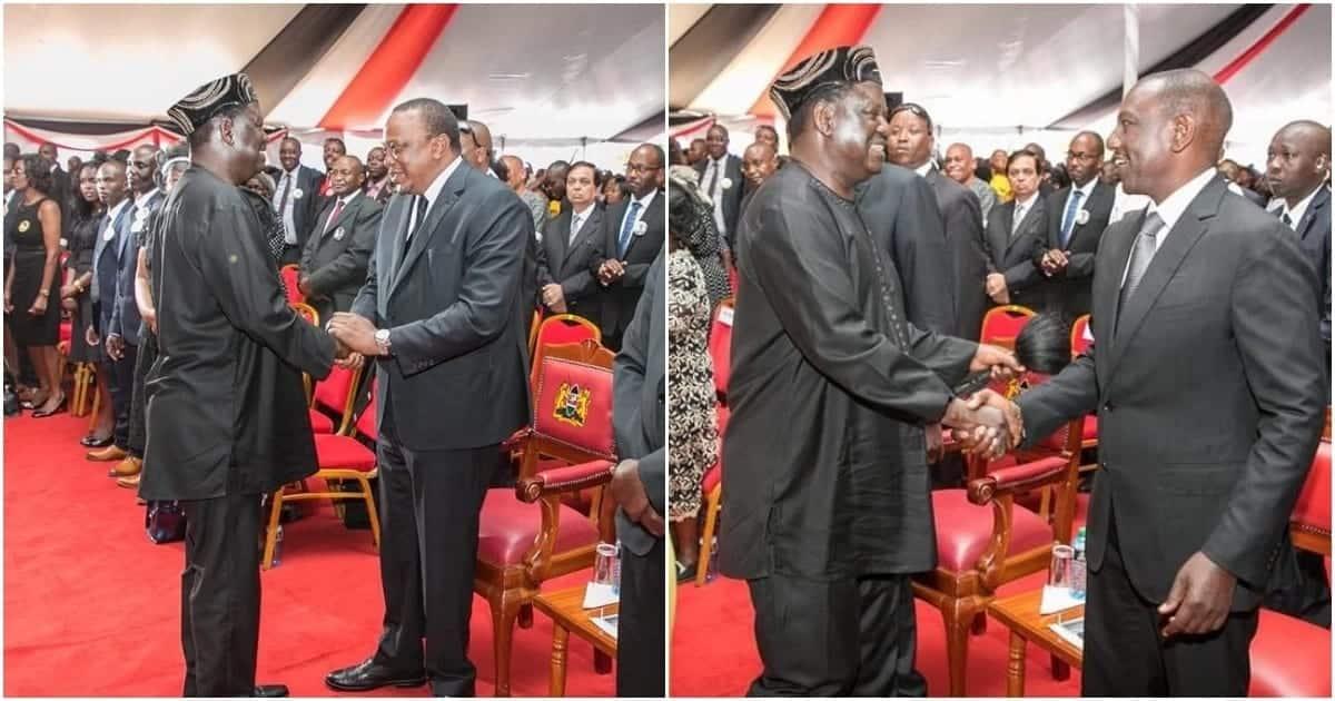 Uhuru, Ruto get scared by pastor's choice of Bible verse during Kamaru's burial