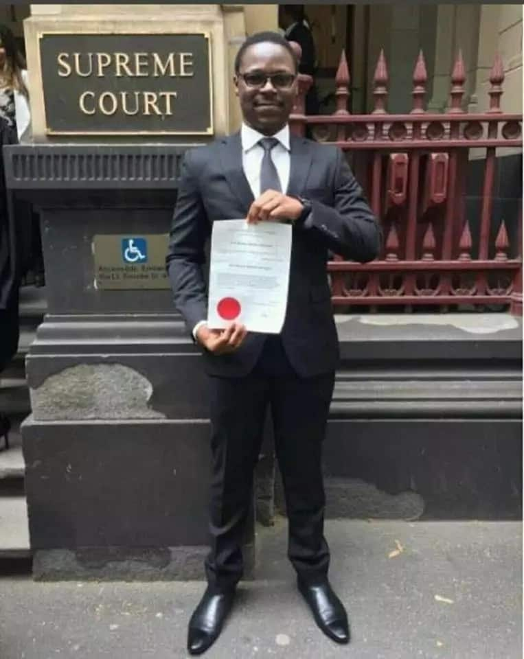 Moses Wetangula's son admitted as lawyer in Australian Supreme Court (photo)