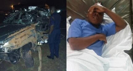 Self-proclaimed richest gospel musician Papa Dennis survives grisly road accident