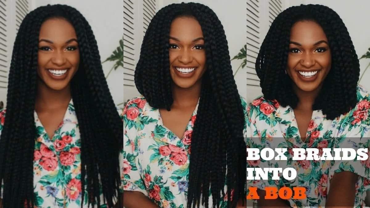How to do bob box braids How to curl bob box braids How to style bob box braids
