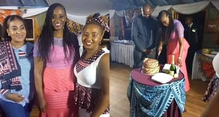 Ex-TV girl Kanze Dena holds thanksgiving party following Uhuru's appointment to State House job