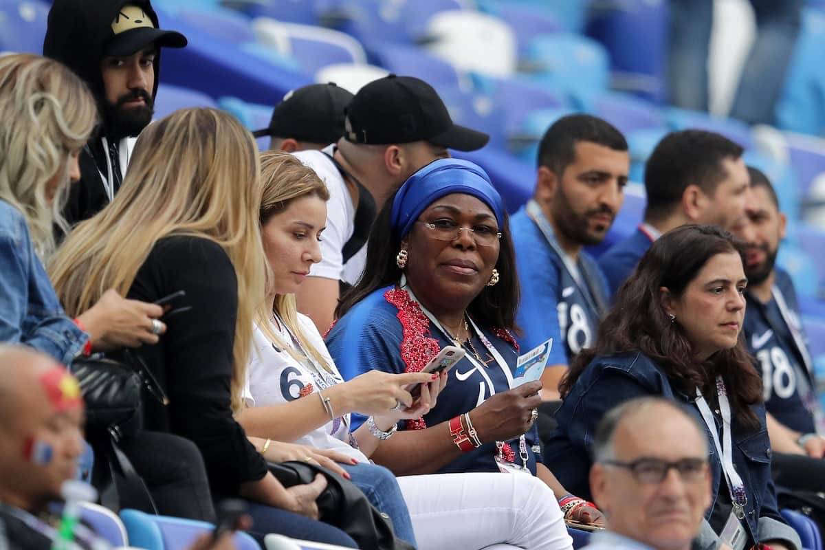 Gorgeous photos of Pogba's girlfriend with his mum cheering France at World Cup