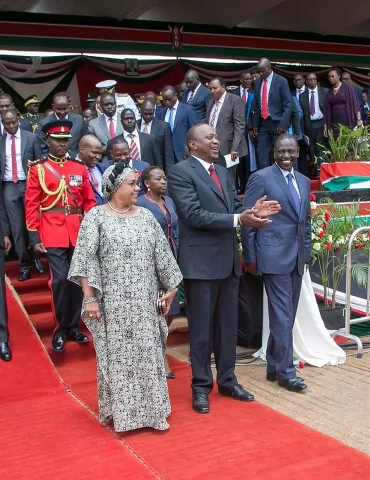 Margaret Kenyatta avutia wengi kwa mtindo wake wa mavazi Mashujaa Day