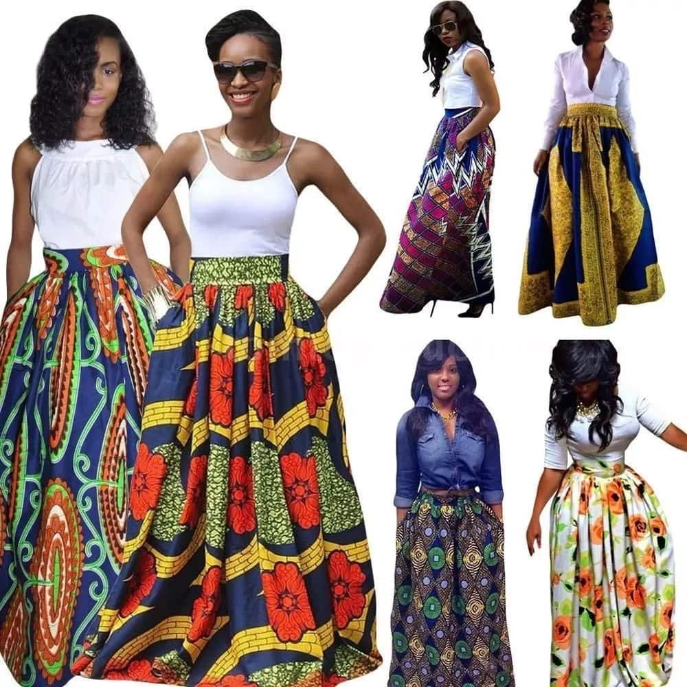 Latest Ankara styles - Maxi skirts