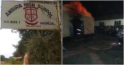 Dormitory at Ambira High School in Siaya county set ablaze