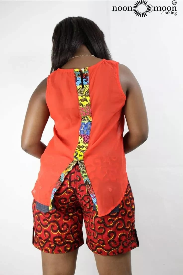 Kitenge shorts and top designs for ladies