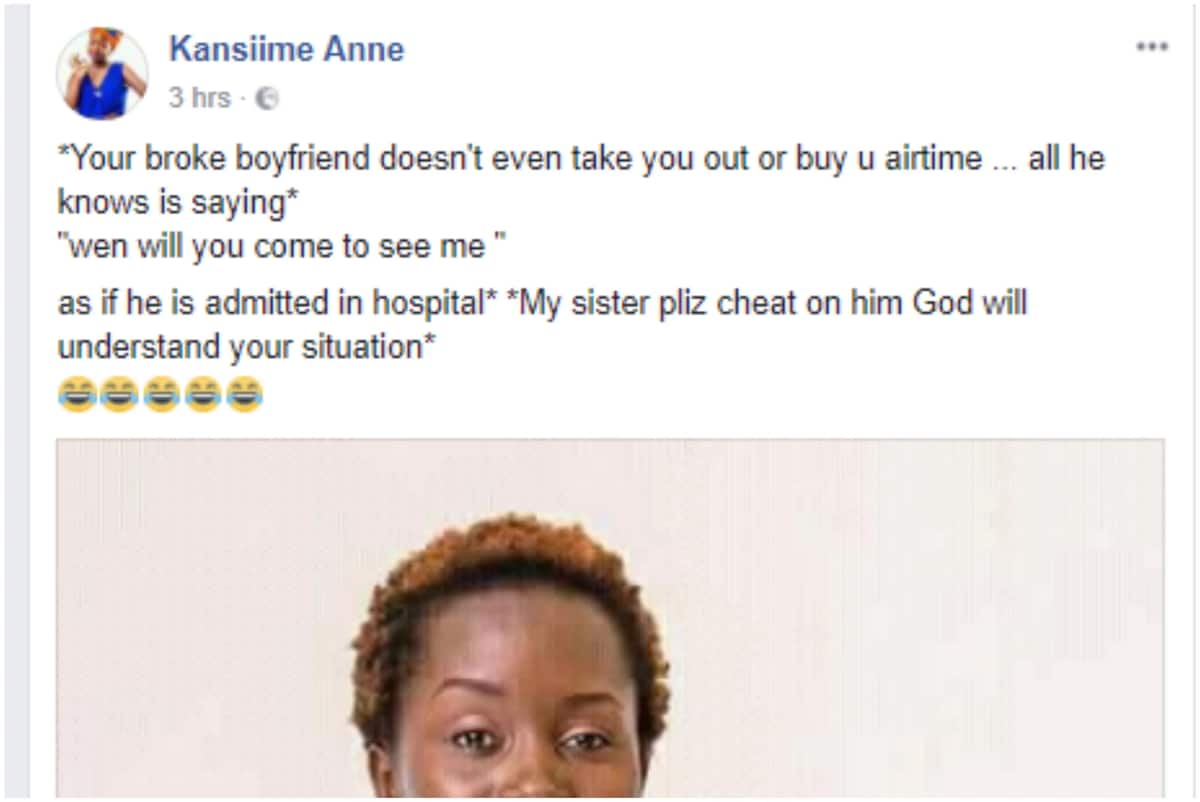 Uganda's comedy sensation Kansiime says she dumped her hubby for being a gold-digger