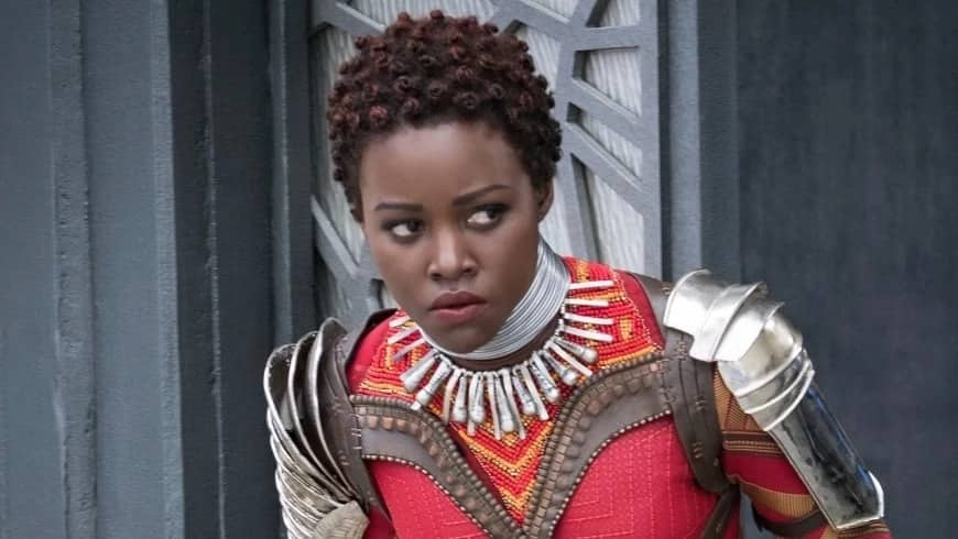 Award-winning actress Lupita Nyong'o featuring in new movie, Black Panther, that was premiered in Kisumu city in 2018.