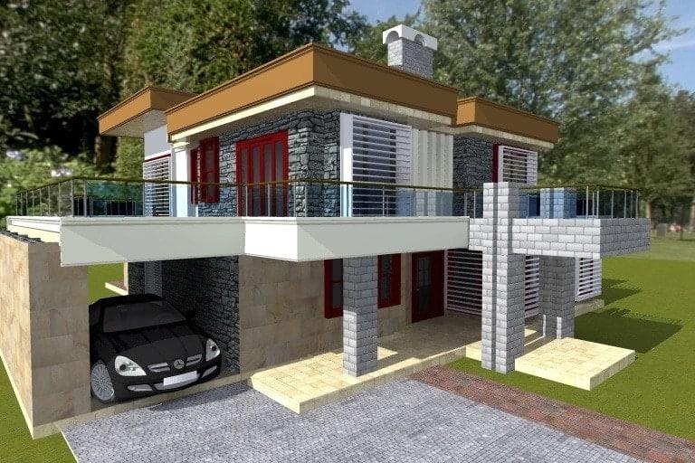 Free download house plans Kenya Free house designs in Kenya House design floor plans Four bedroom maisonette house plans