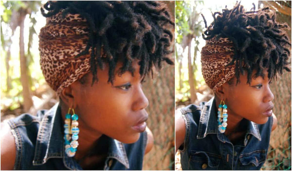 Afro kinky hair dreads