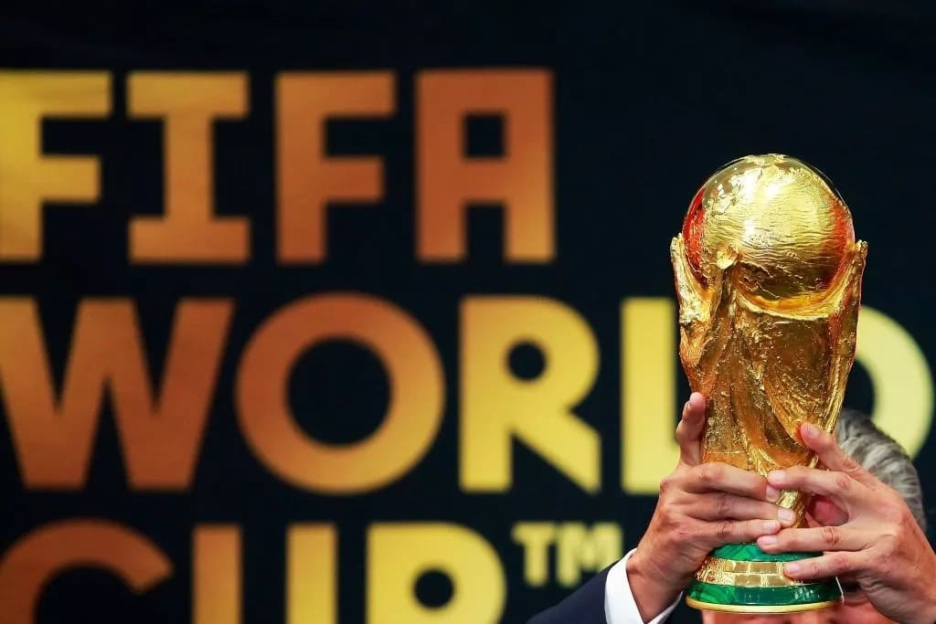 A view of the FIFA World Cup Trophy