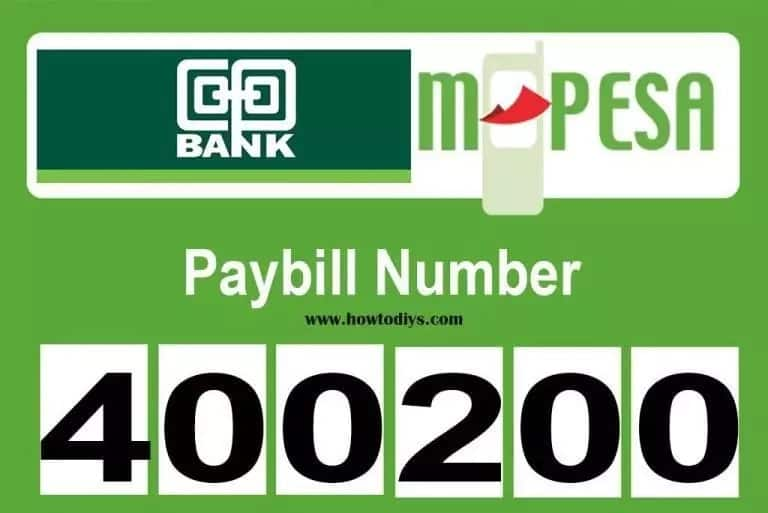 400200 Coop Bank Paybill - MPESA to Cooperative Bank