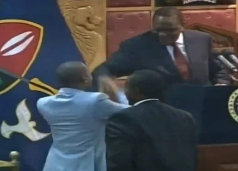 Babu Owino dramatically reconciles with Uhuru Kenyatta during State of the Nation address