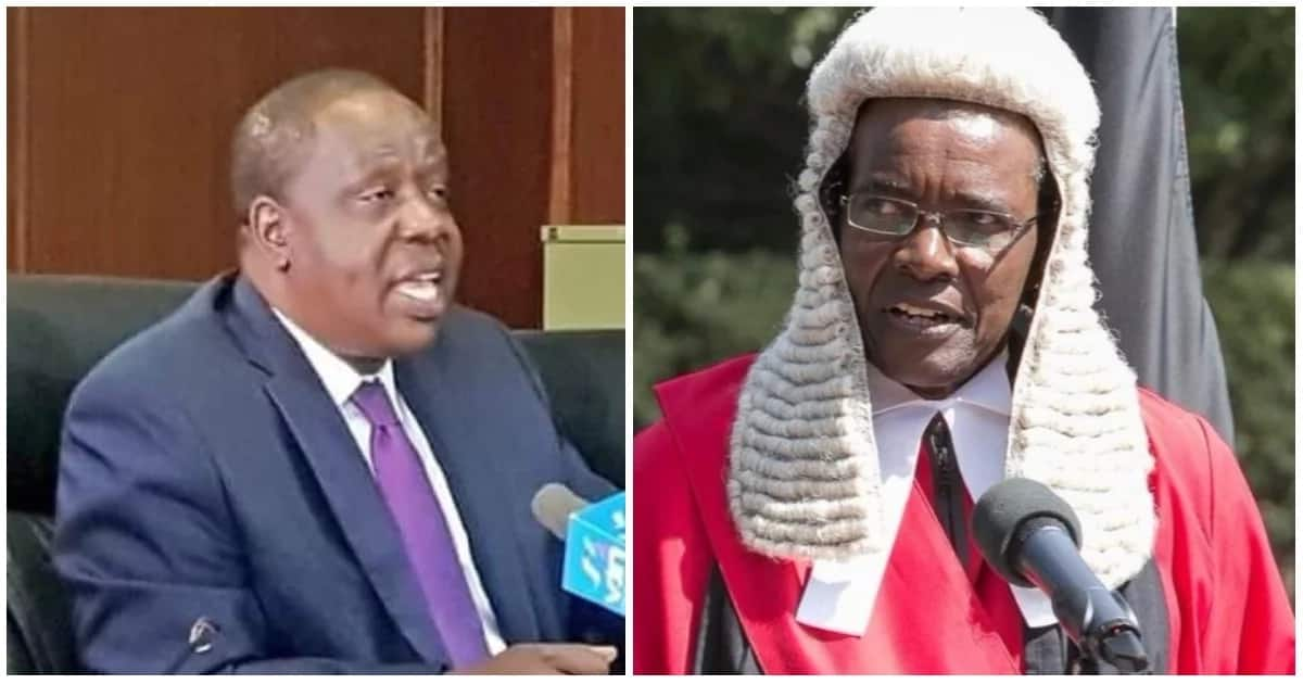 Chief Justice David Maraga has reacted to the accusations that were labeled against the Judiciary by Interior CS Fred Matiang'i
