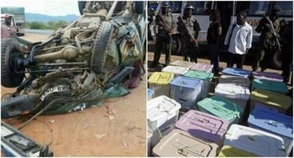 Polisi 2 wafa, na maafisa wa IEBC wajeruhiwa baada ya kuhusika katika ajali