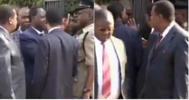 Polisi wakiona cha mtema kuni kwa kujaribu kujibizana na Raila Odinga