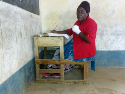 68-year old granny sits for KCPE exam in same school with 13-year-old granddaughter