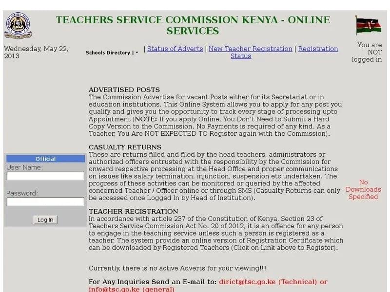 Kenya New Teacher Registration