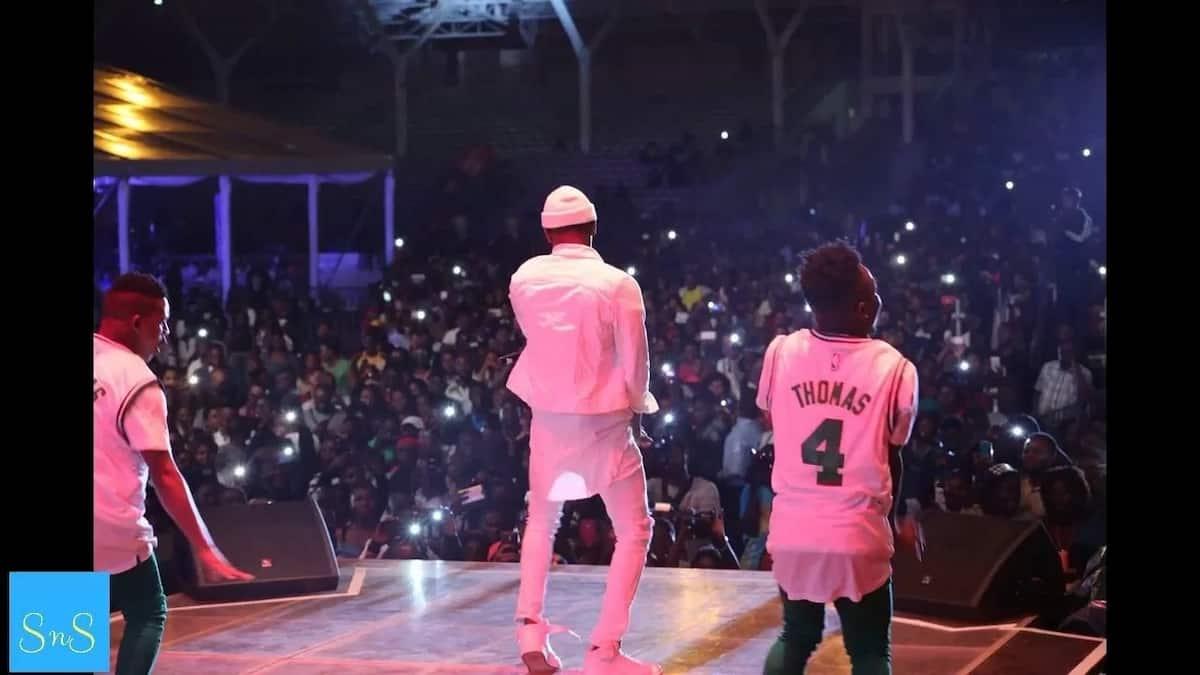 Ugandans invade Diamond Platnumz show demanding apology for cheating on Zari