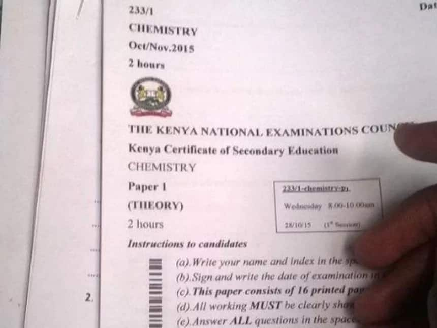 KCSE sample papers with answers for 2019