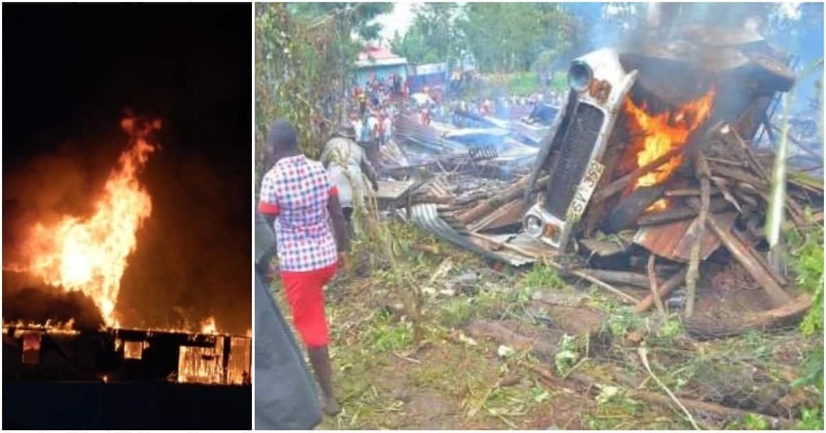 Mfanyabiashara Meru nusra kuuawa baada ya wanakijiji kuvamia maduka, makazi kwa kuyateketeza
