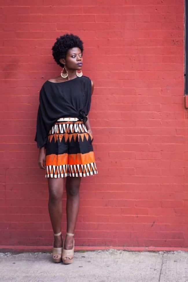 Kitenge baggy shorts designs for ladies