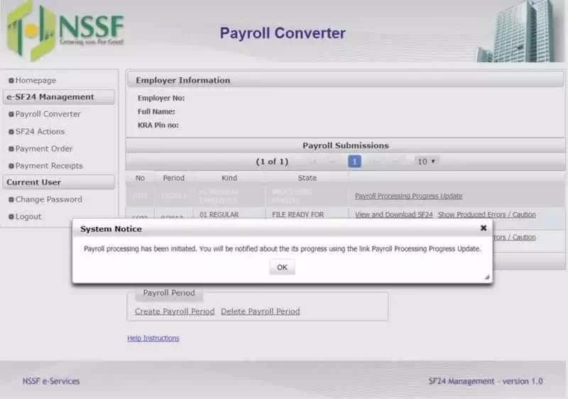 Self service nssf ke payroll payment processing Nssf payroll template Nssf contribution How to make nssf payment online Nssf contribution options