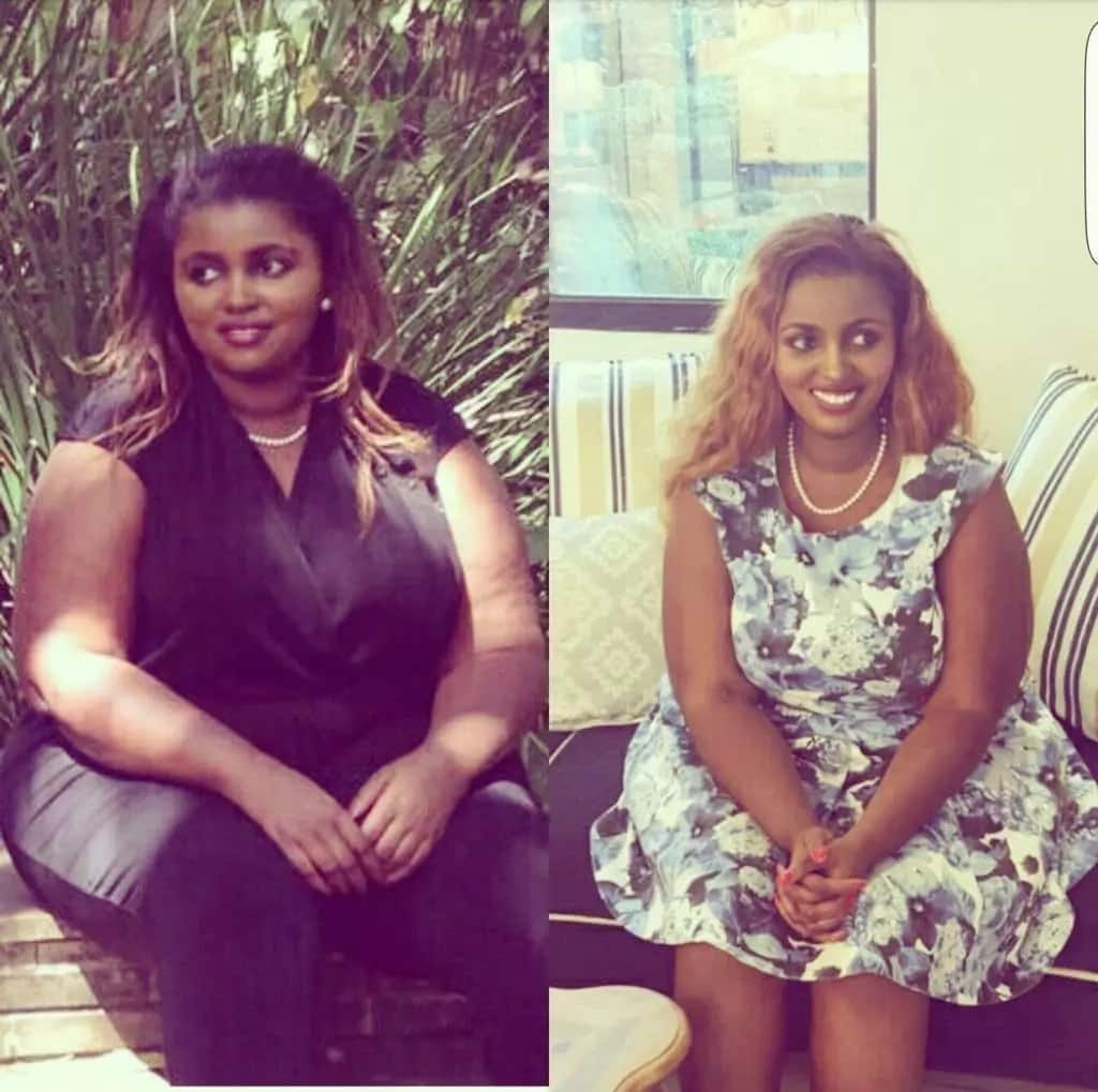 12 amazing photos that capture the spectacular weight loss of Kenyas richest daughter from 124 kilos to 64 kilos
