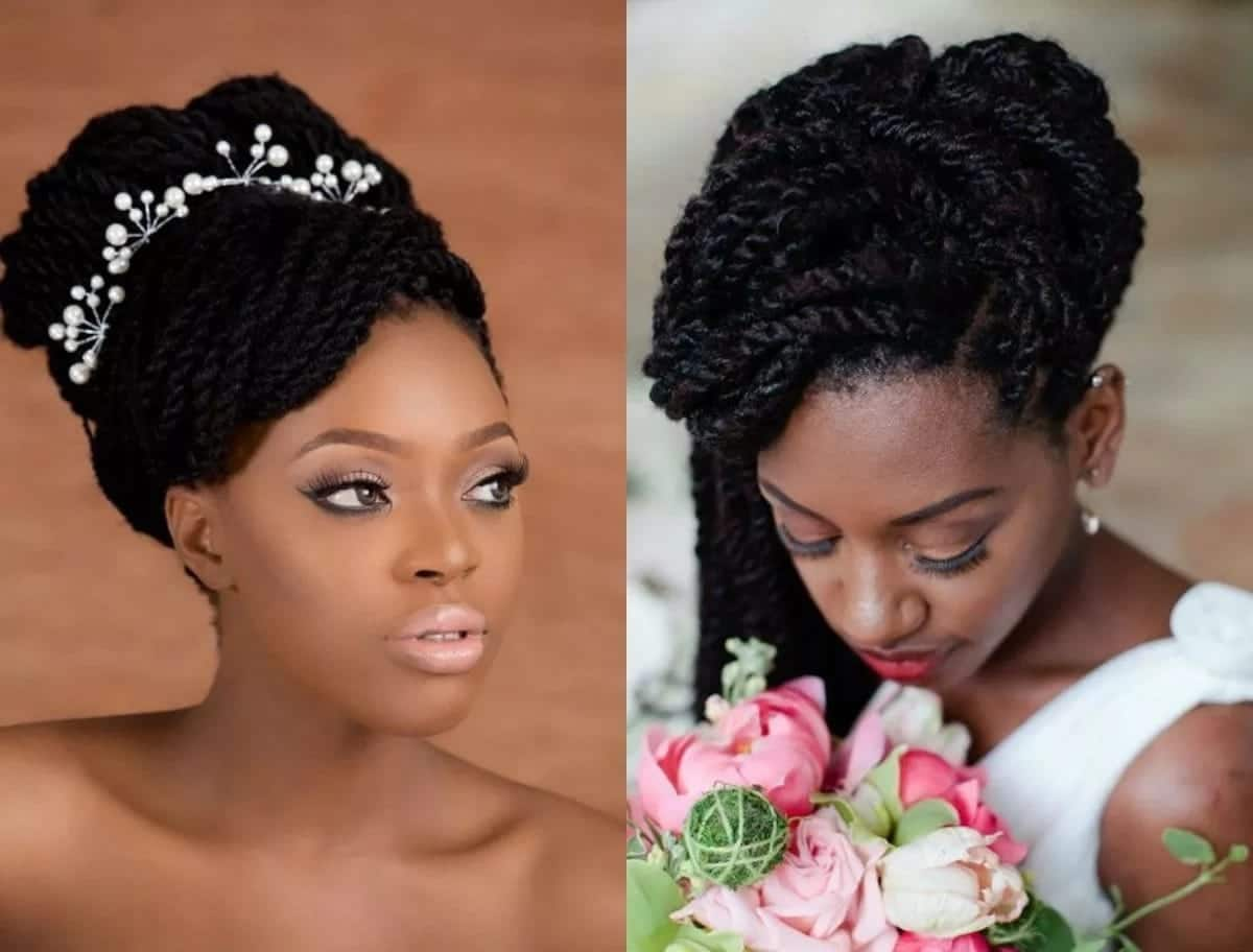 Wedding Hairstyles With Braids: Latest Wedding Hairstyles In Kenya Tuko.co.ke