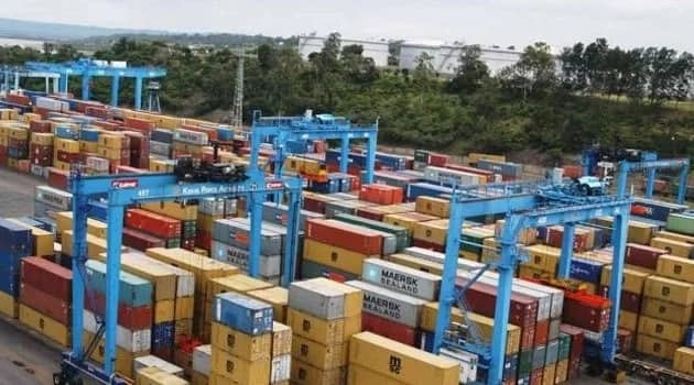 Goods at the port of Mombasa.