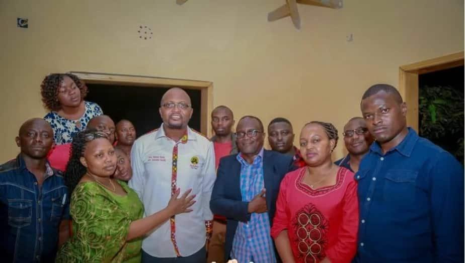 Moses Kuria, Anne Waiguru wawaongoaza Jubilee kushiriki Wanjigi Challenge (Picha)