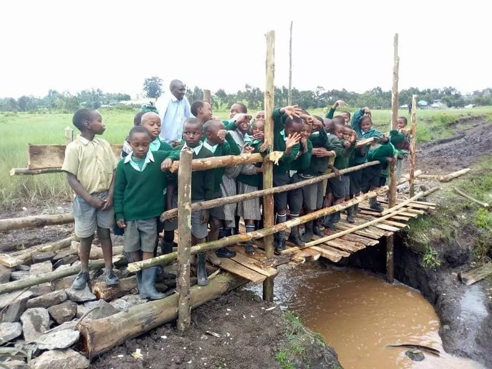 Relief for Tiekunu Primary School pupils after their cry for bridge was heard