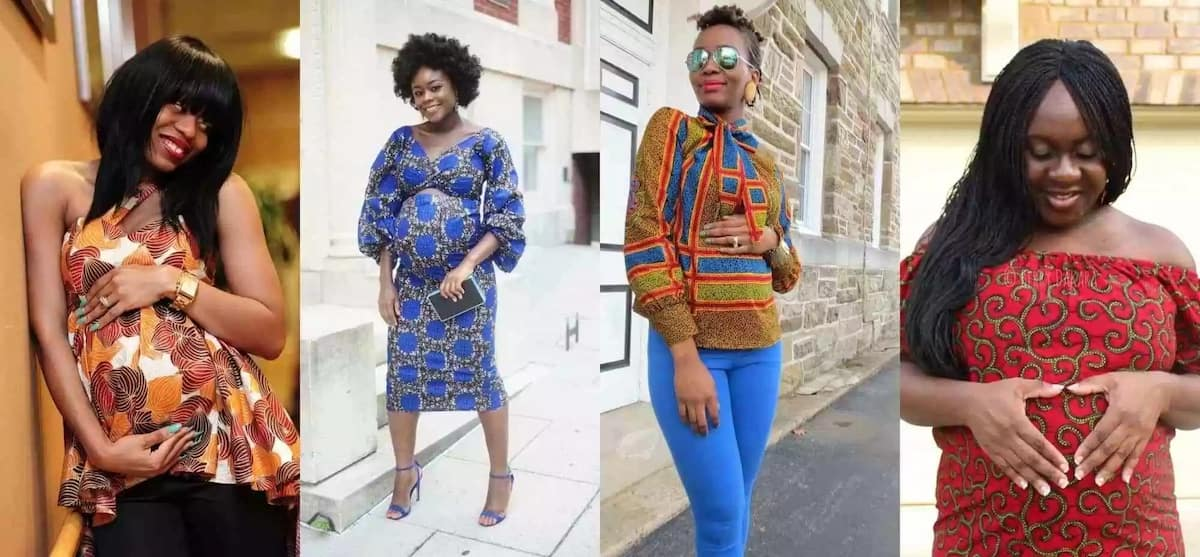 Latest African Ankara designs for pregnant women