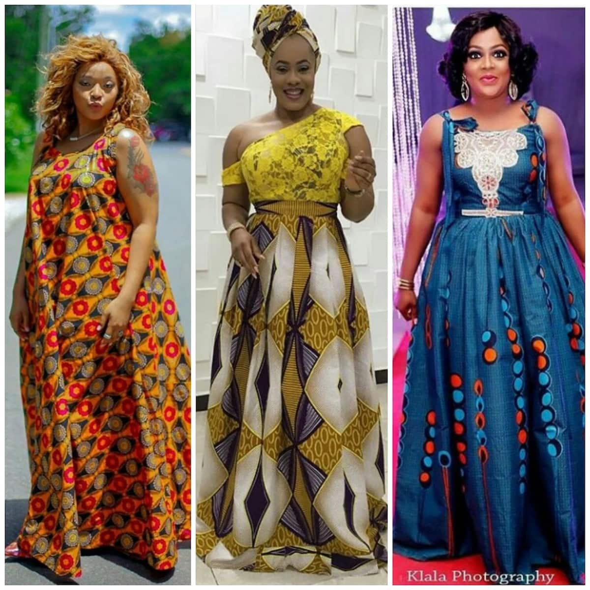 32b8b3c66f641 Kitenge designs for long dresses ▷ Tuko.co.ke