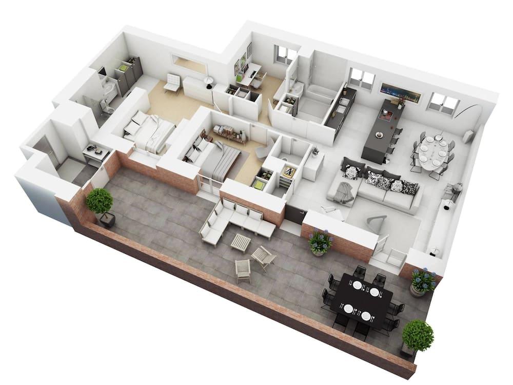Three Bedroom Bungalow House Plans In Kenya Tuko Co Ke