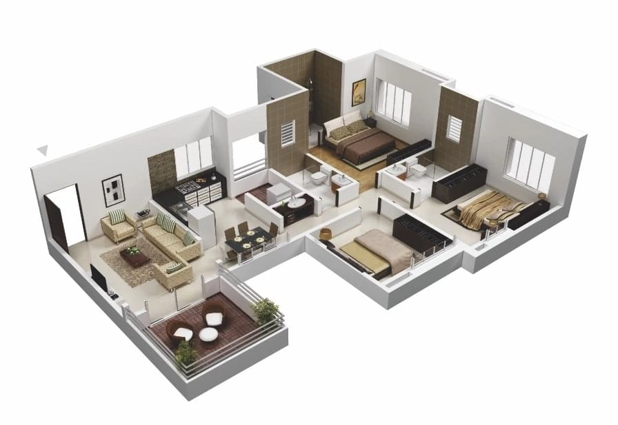 3 bedroom house plans & designs in Kenya Tuko.co.ke